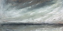 Sweeping Sky by Frances Ackland Snow -  sized 18x9 inches. Available from Whitewall Galleries
